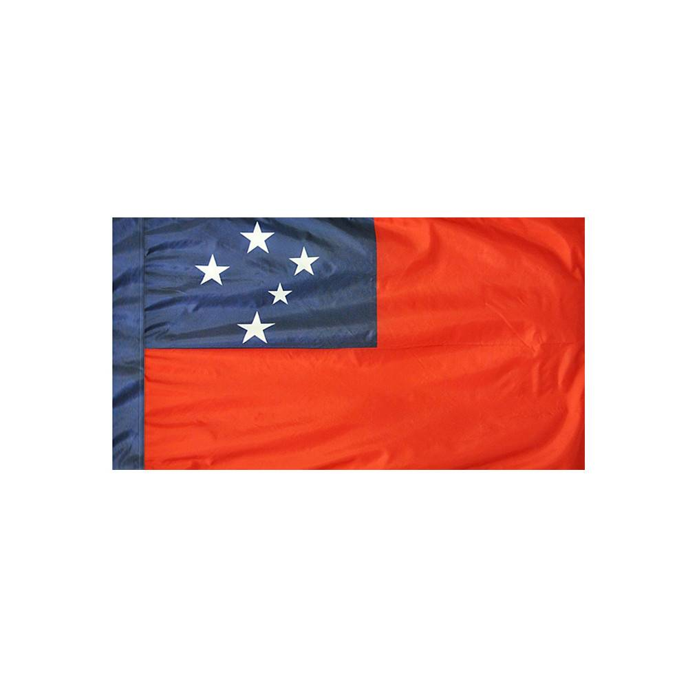 Western Samoa Flag with Polesleeve