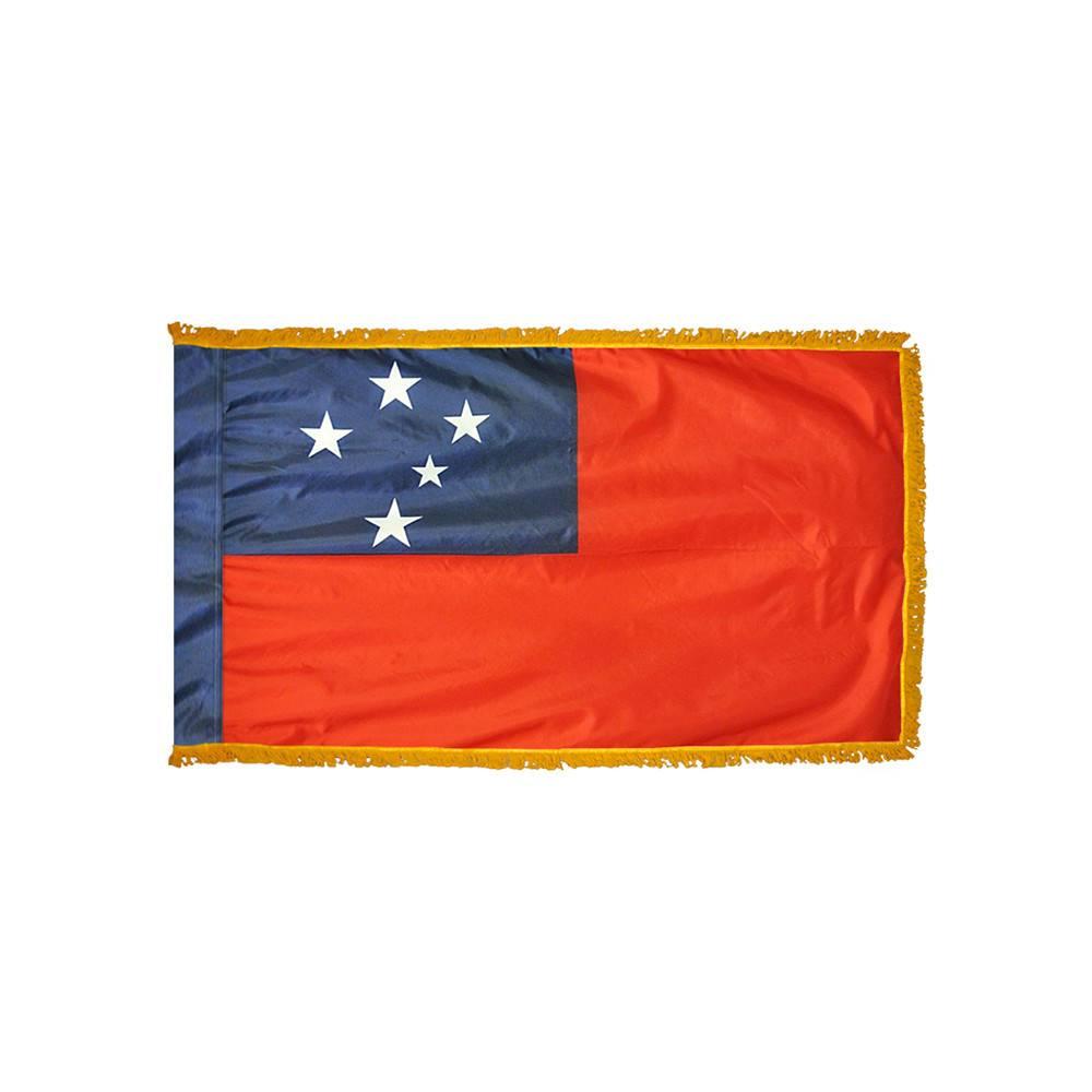 Western Samoa Flag with Polesleeve & Fringe