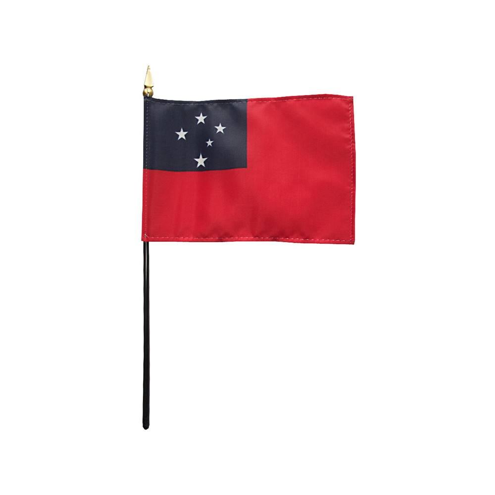 Western Samoa Stick Flag 4x6 in