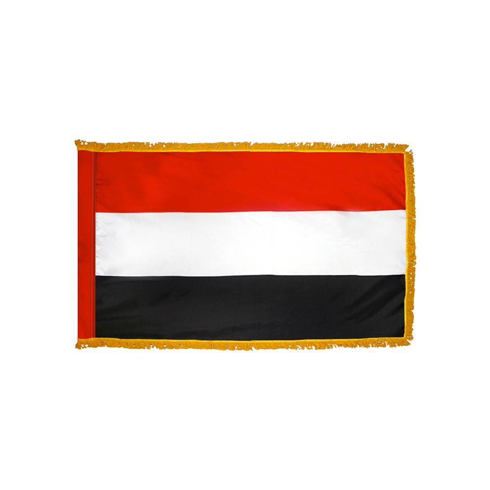 Yemen Flag with Polesleeve & Fringe