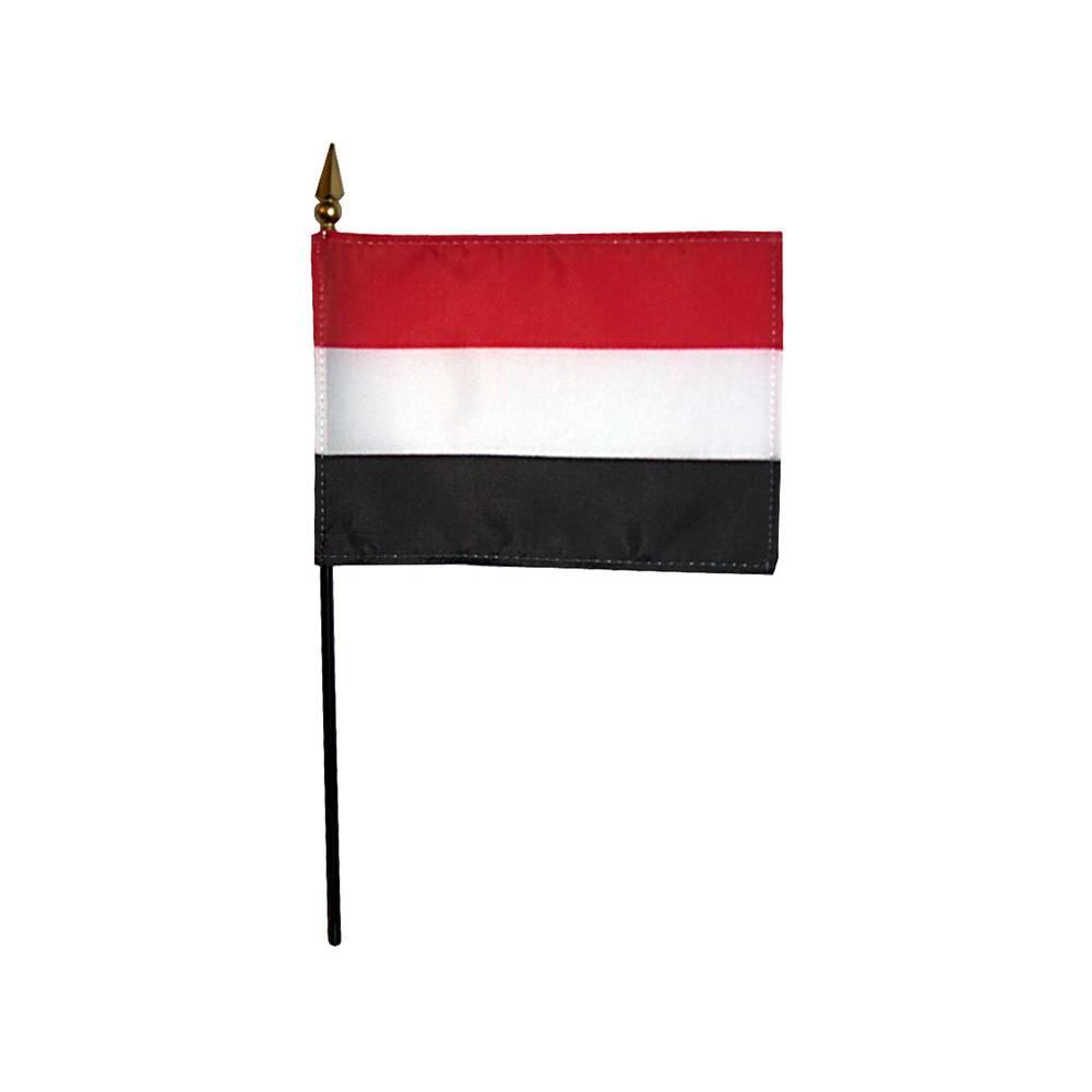 Yemen Stick Flag 4x6 in
