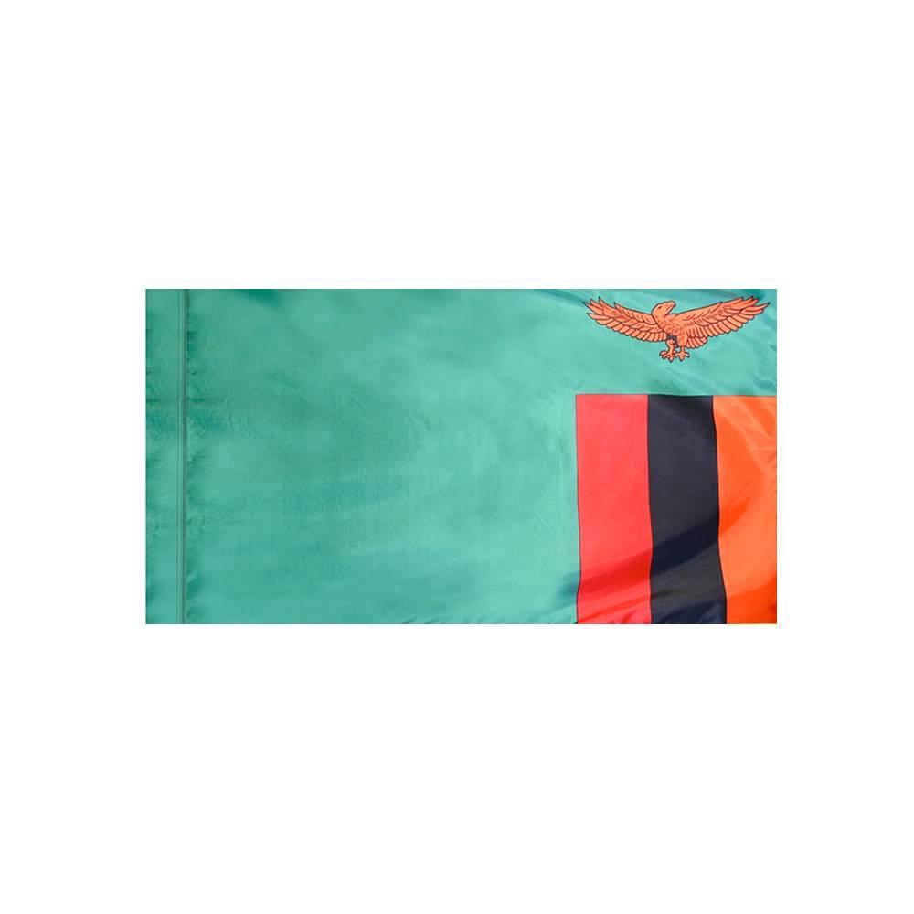 Zambia Flag with Polesleeve