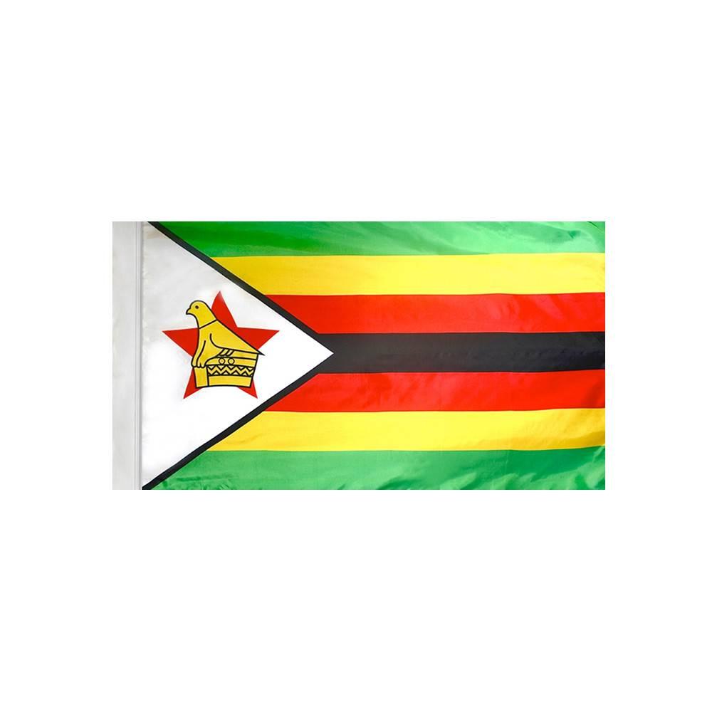 Zimbabwe Flag with Polesleeve