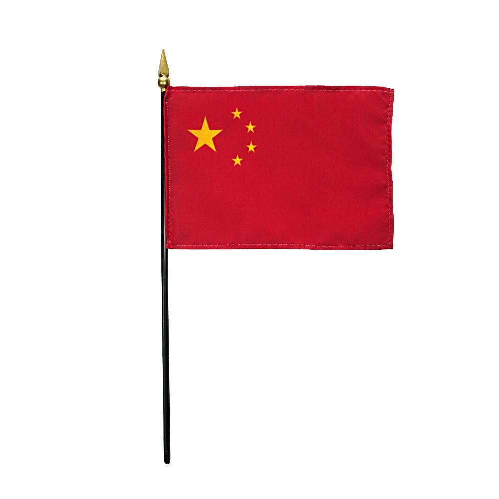 China Stick Flag 4x6 in