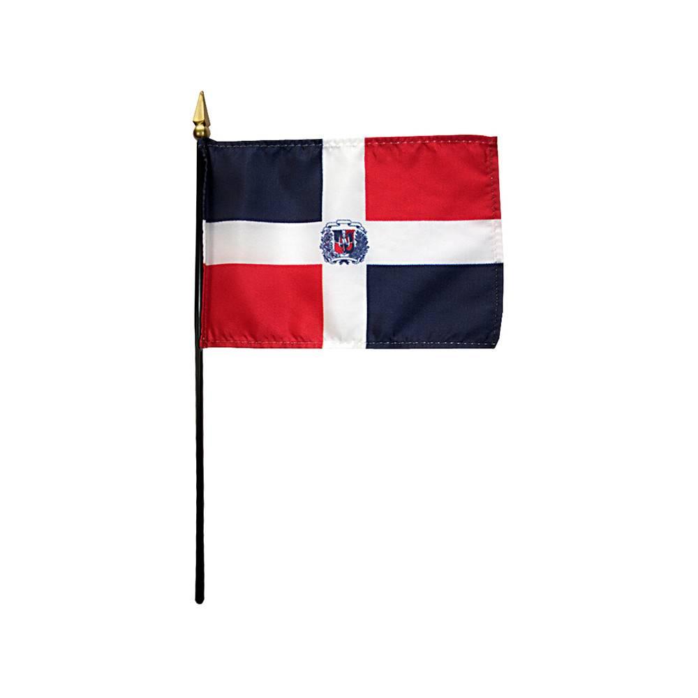 Dominican Republic Stick Flag