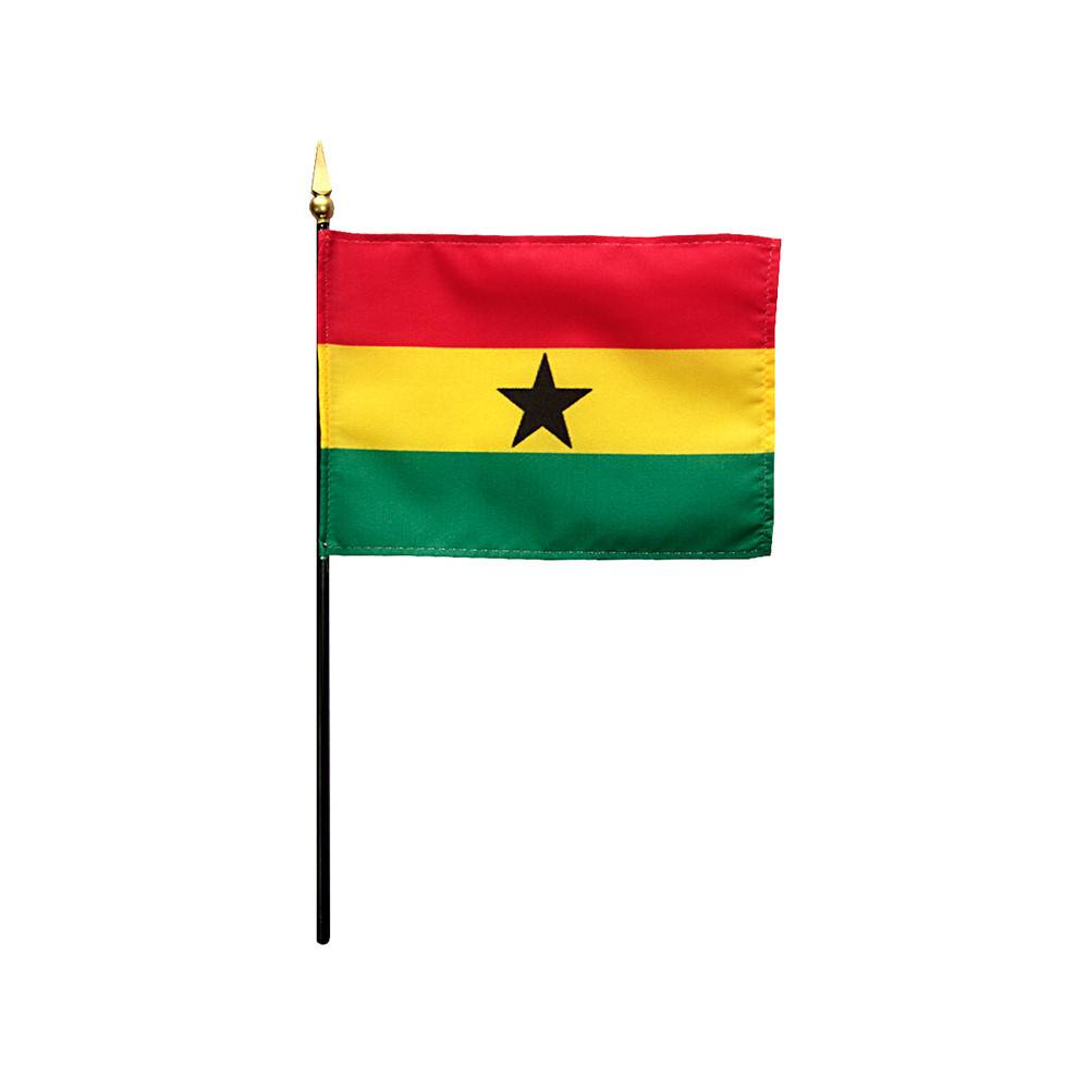 Ghana Stick Flag 4x6 in