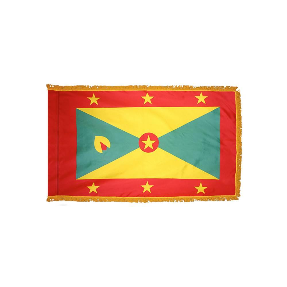 Grenada Flag with Polesleeve & Fringe