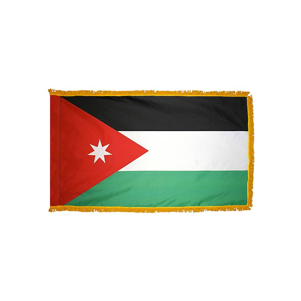 Jordan Flag with Polesleeve & Fringe
