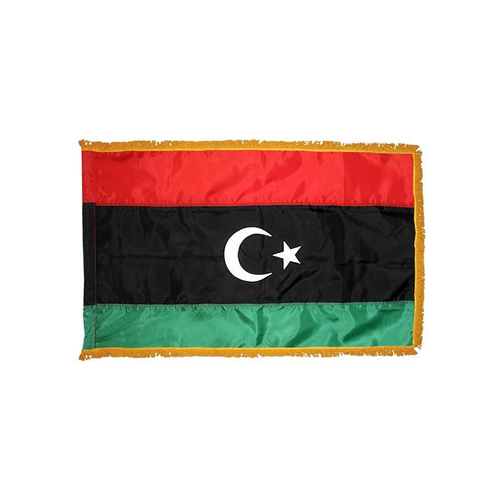 Libya Flag with Polesleeve & Fringe