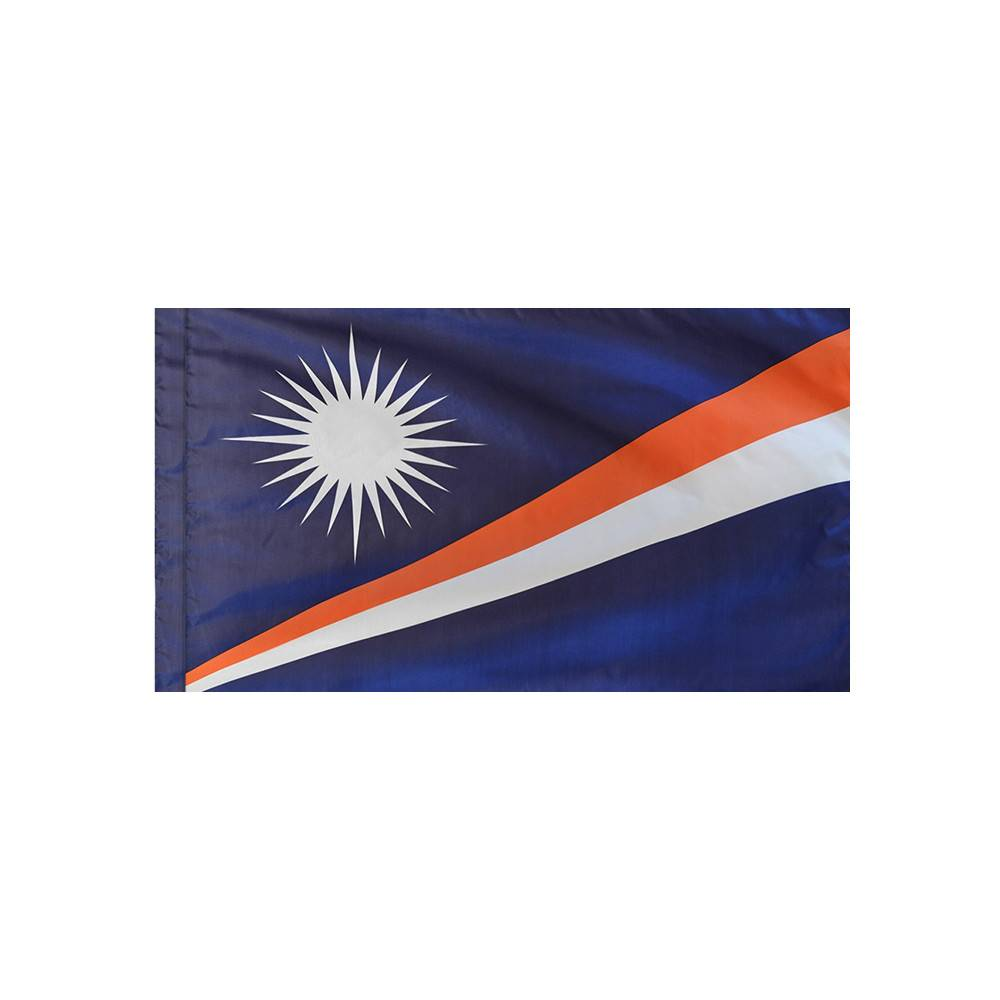 Marshall Islands Flag with Polesleeve