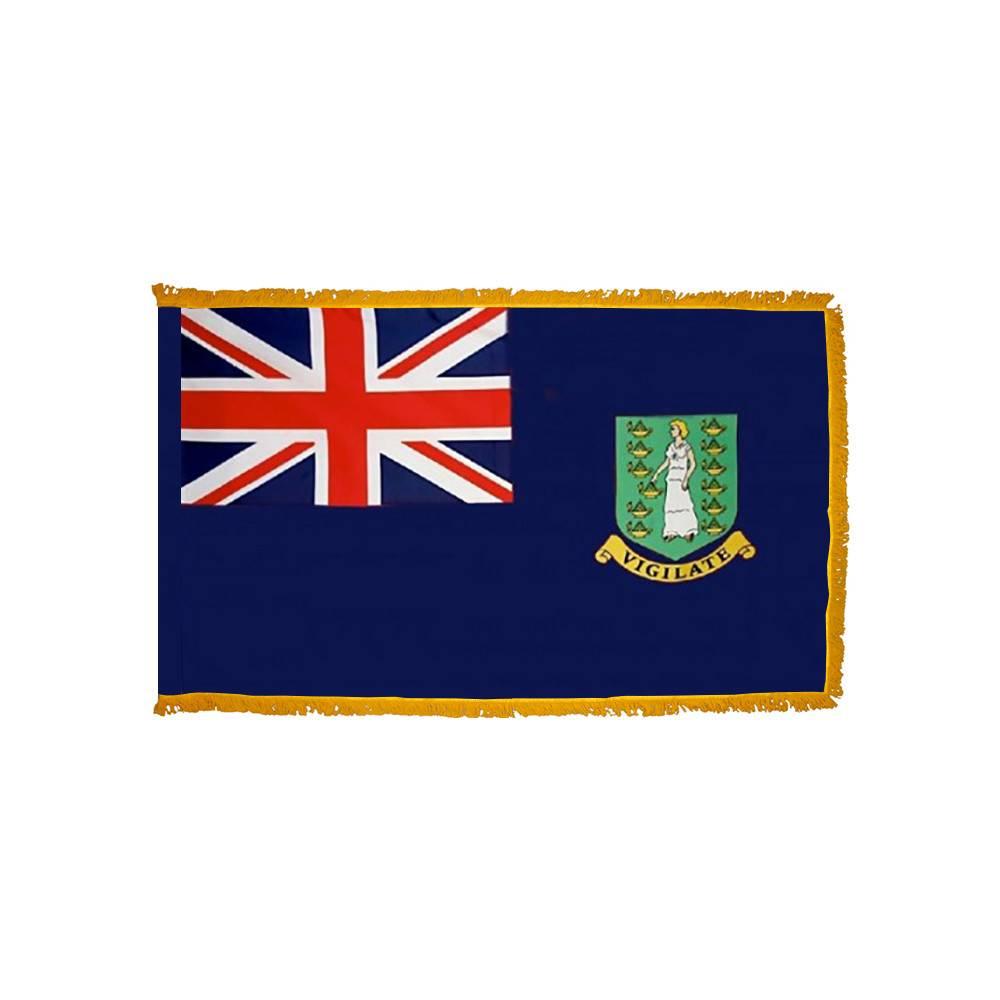 British Virgin Islands Flag with Polesleeve & Fringe