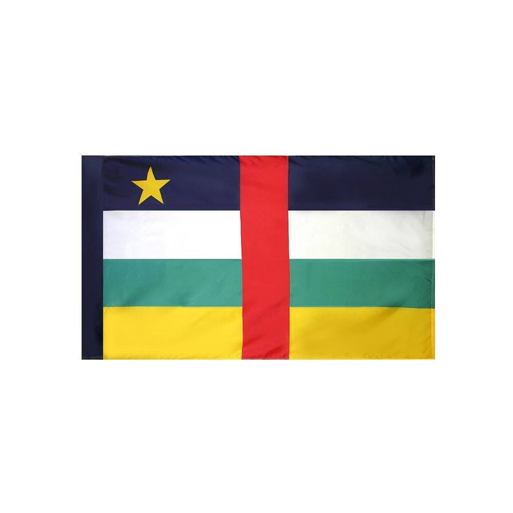 Central African Republic Flag with Polesleeve