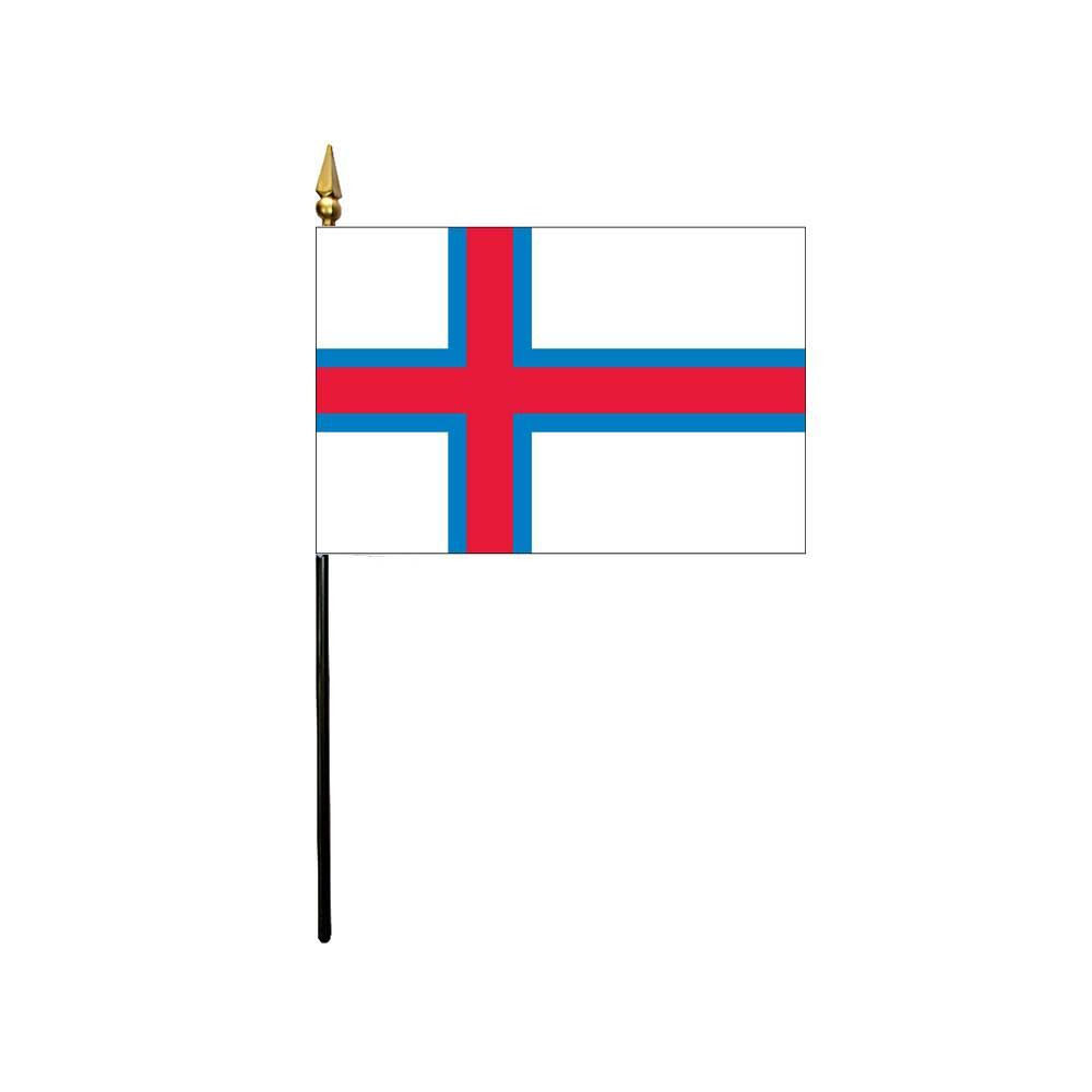 Faroe Islands Stick Flag 4x6 in