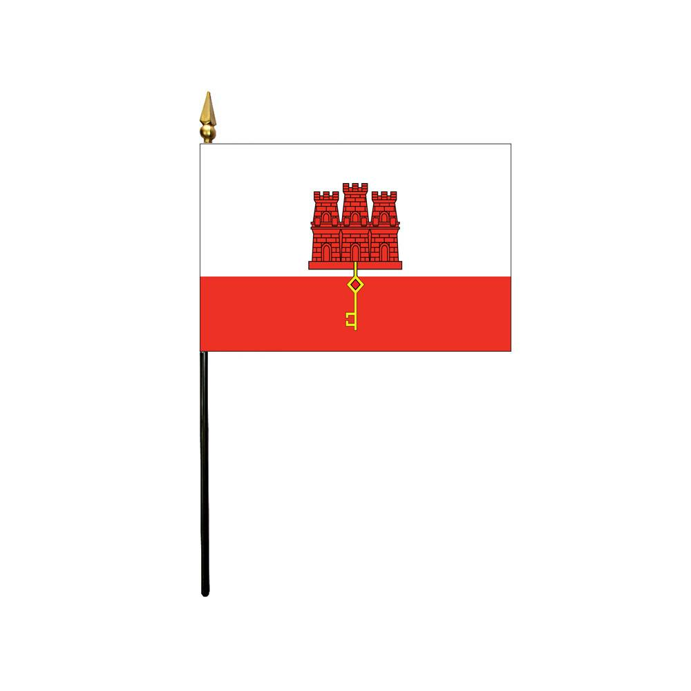 Gibraltar Stick Flag 4x6 in