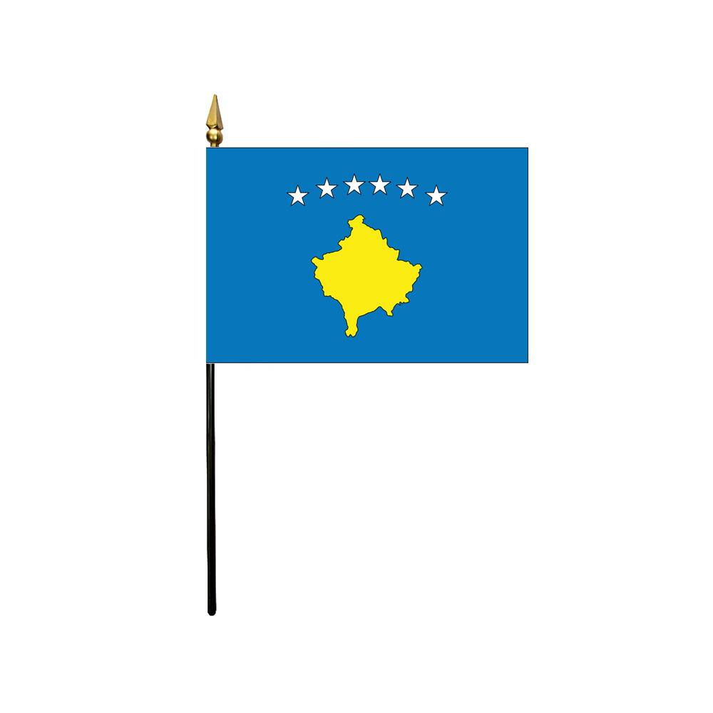 Kosovo Stick Flag 4x6 in