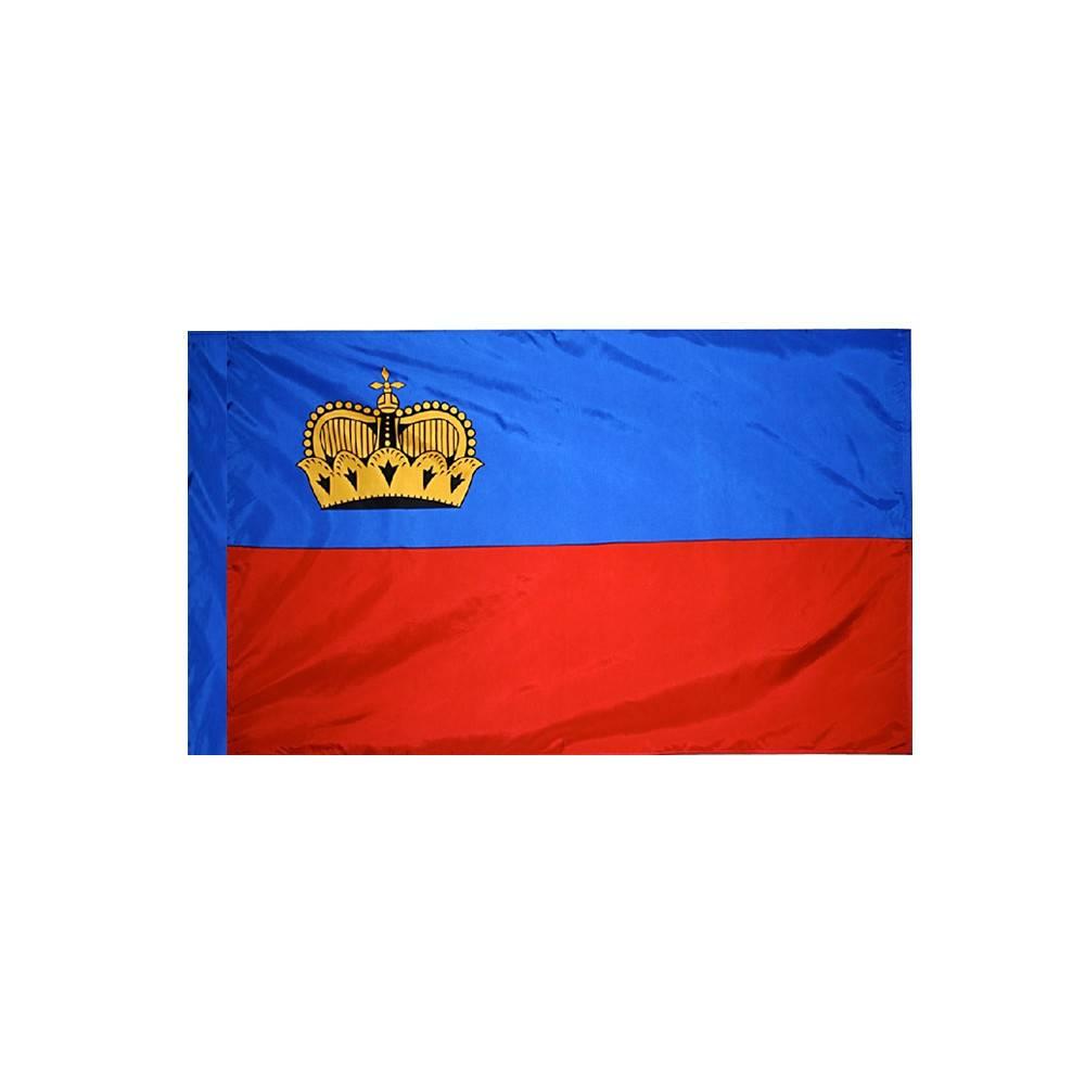Liechtenstein Flag with Polesleeve