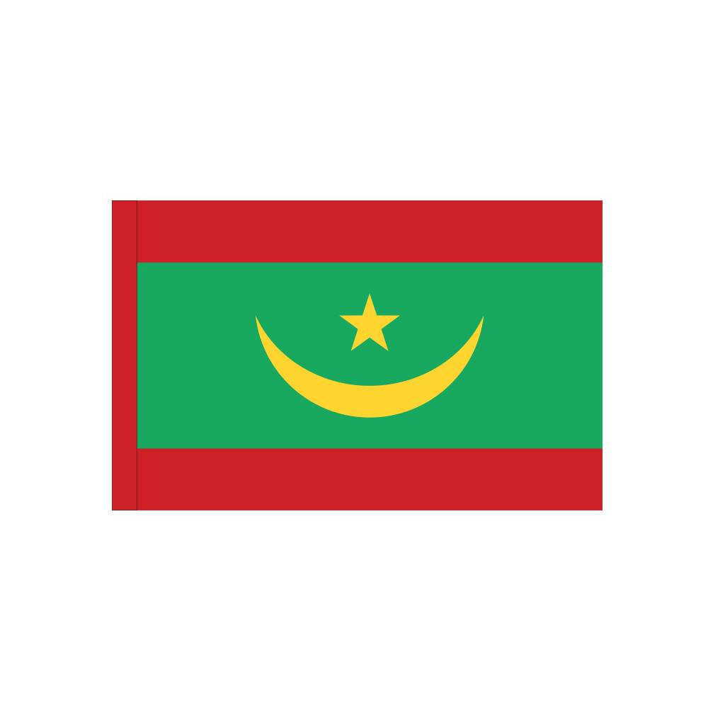 Mauritania Flag with Polesleeve