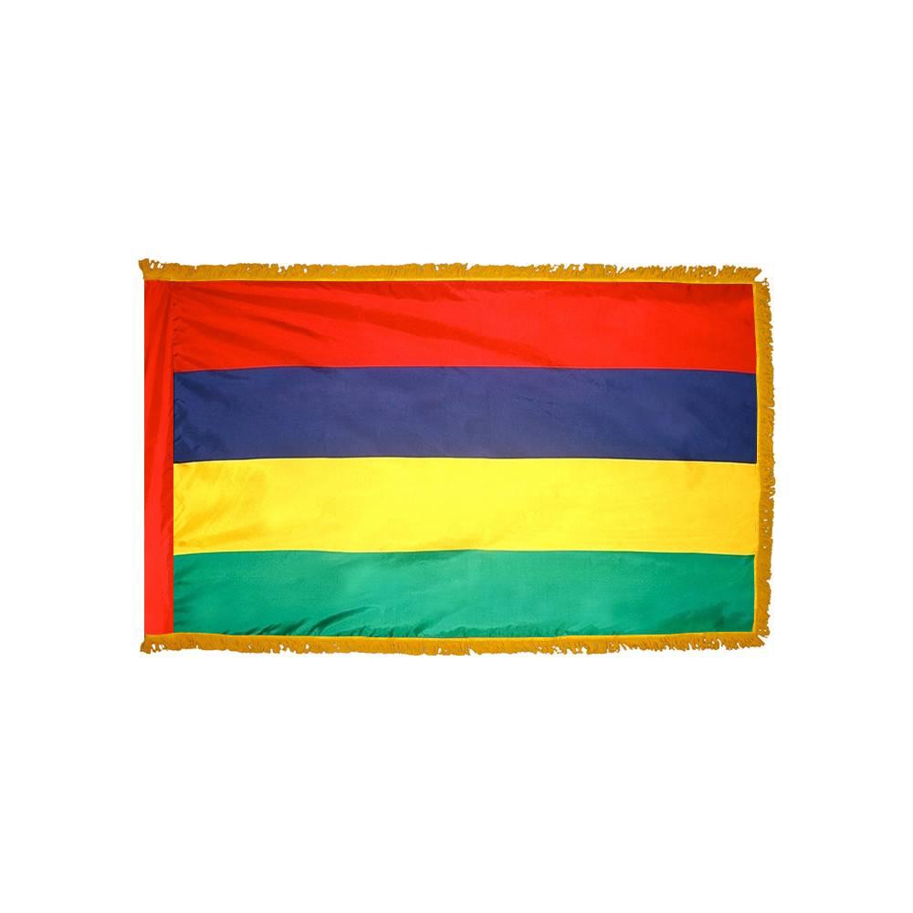 Mauritius Flag with Polesleeve & Fringe