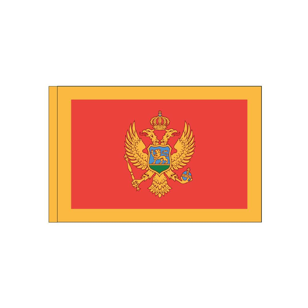 Montenegro Flag with Polesleeve