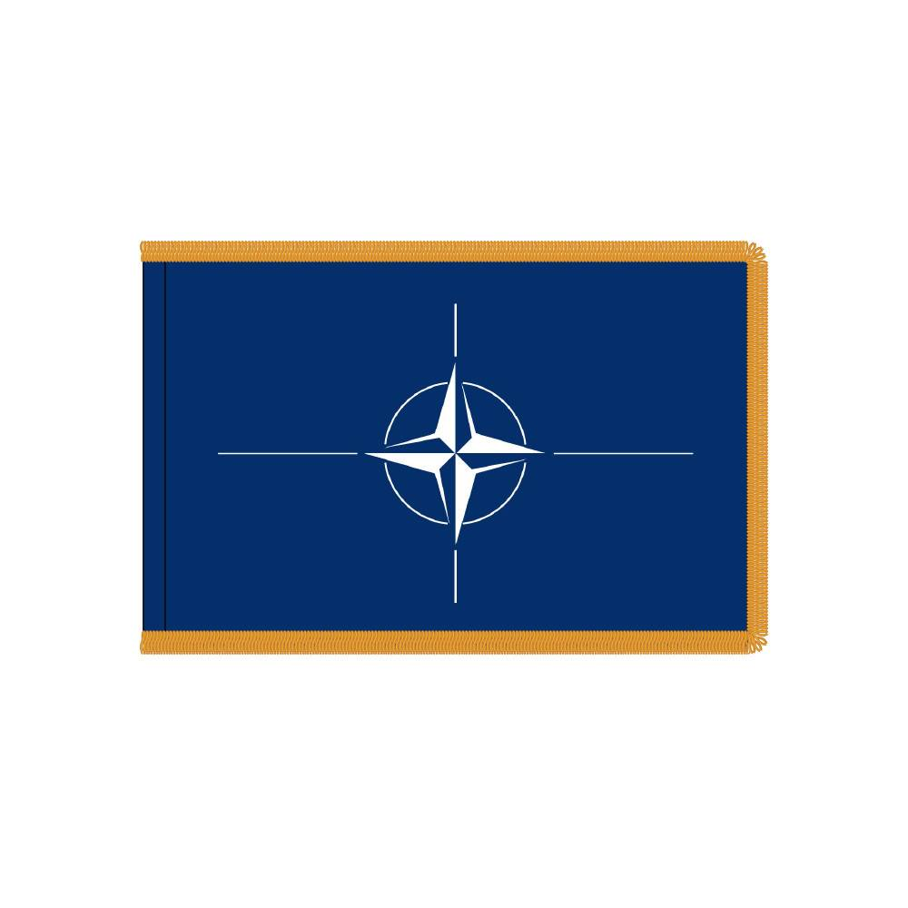 NATO Flag with Polesleeve & Fringe
