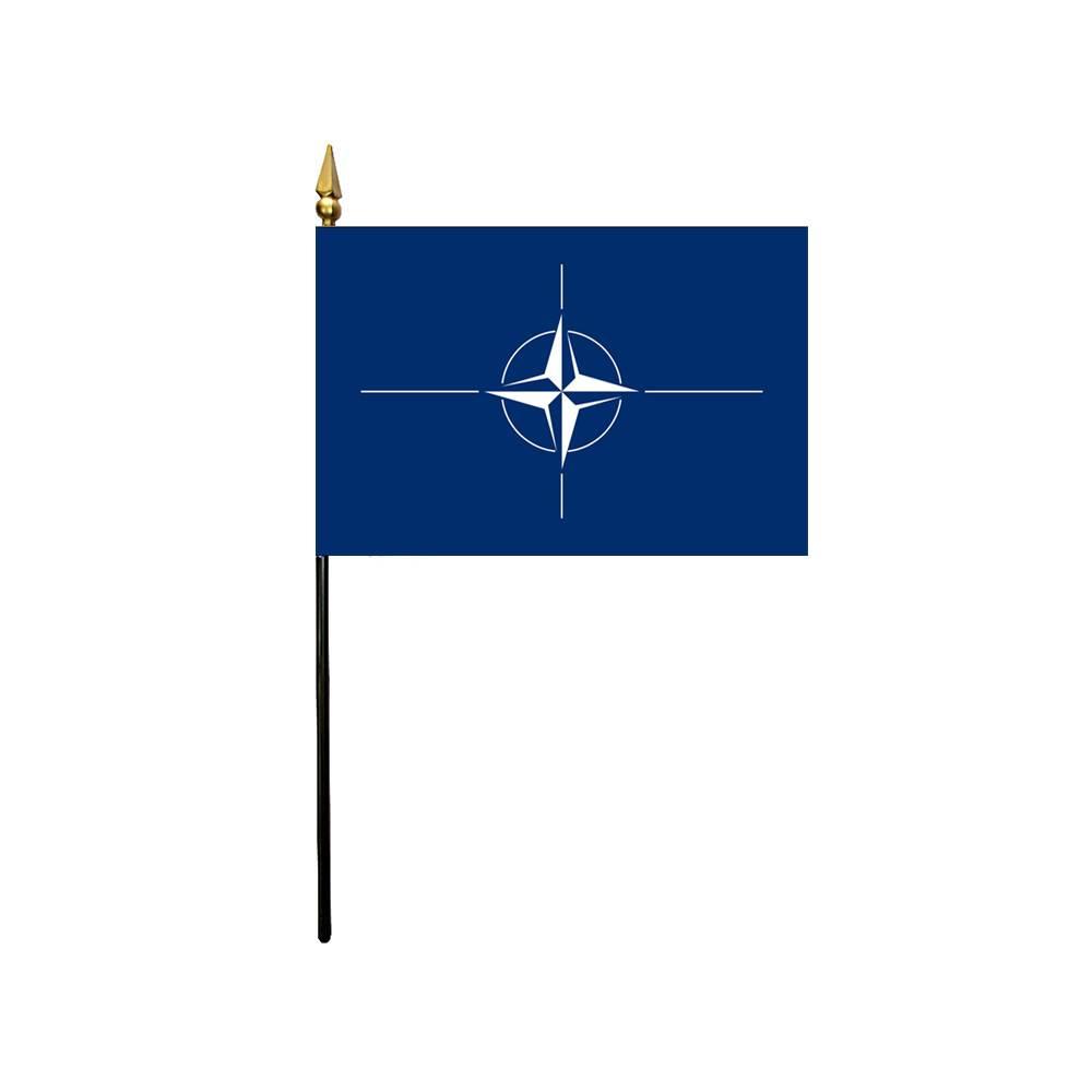 NATO Stick Flag 4x6 in