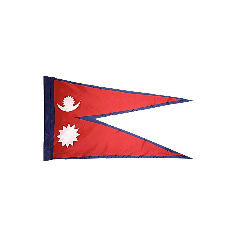 Nepal Flag with Polesleeve