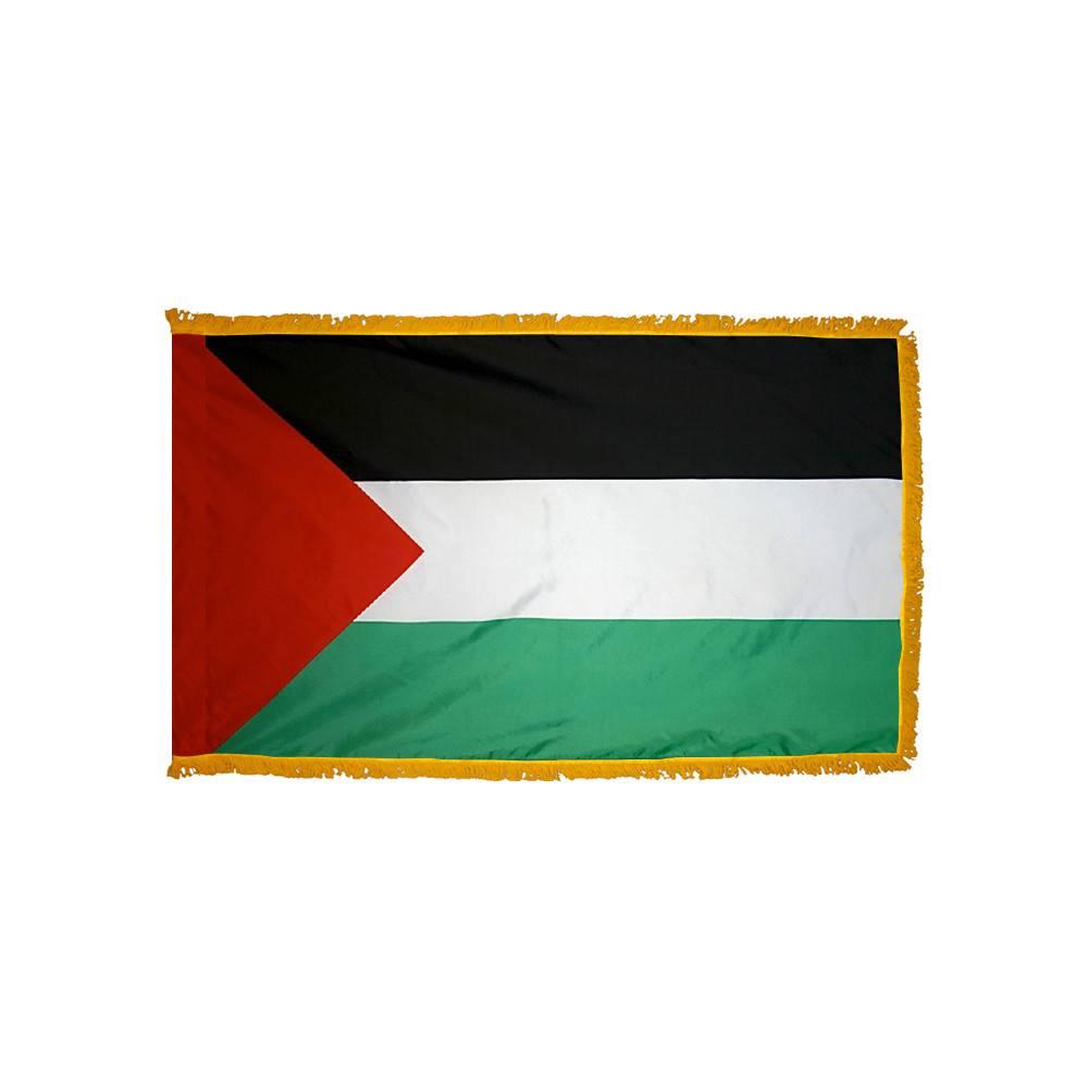 Palestine Flag with Polesleeve & Fringe