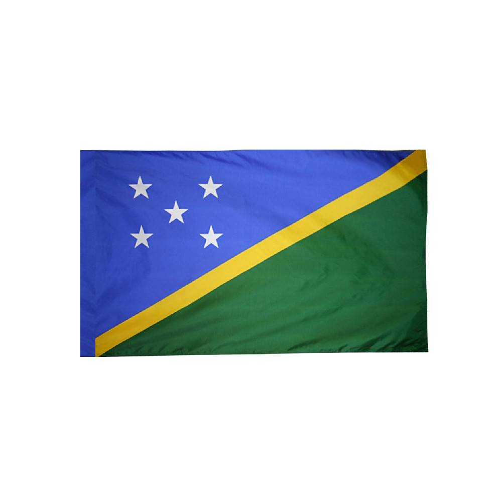 Solomon Islands Flag with Polesleeve