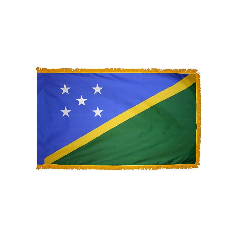 Solomon Islands Flag with Polesleeve & Fringe