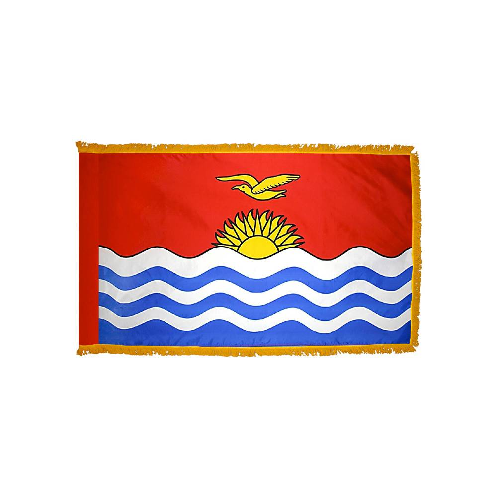 Kiribati Flag with Polesleeve & Fringe
