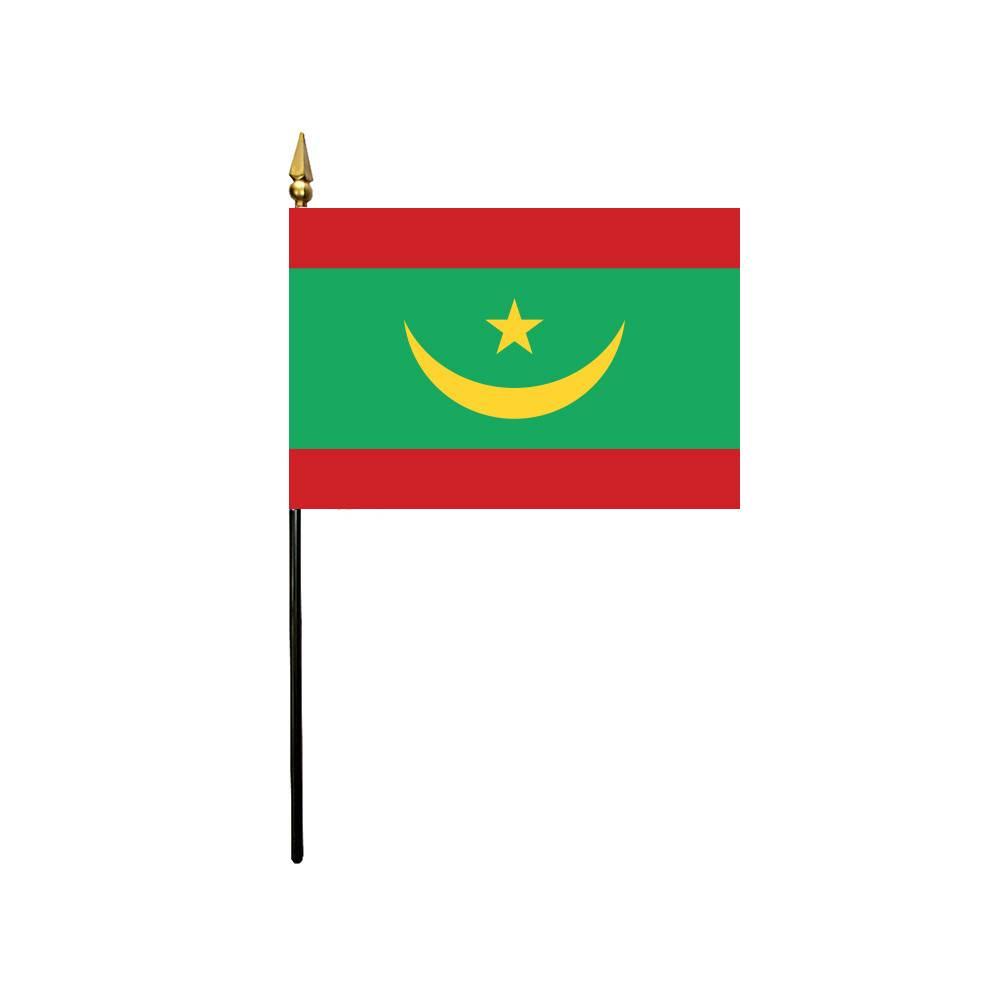 Mauritania Stick Flag 4x6 in
