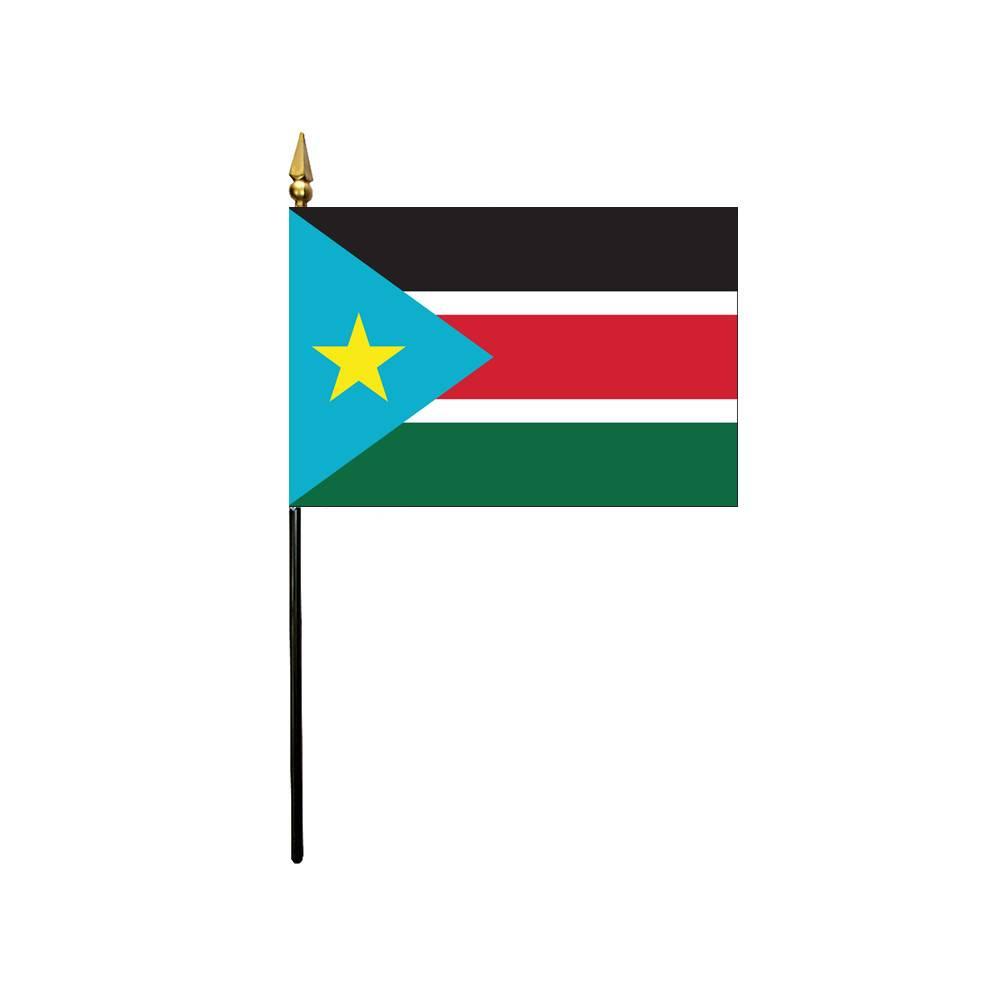 South Sudan Stick Flag 4x6 in