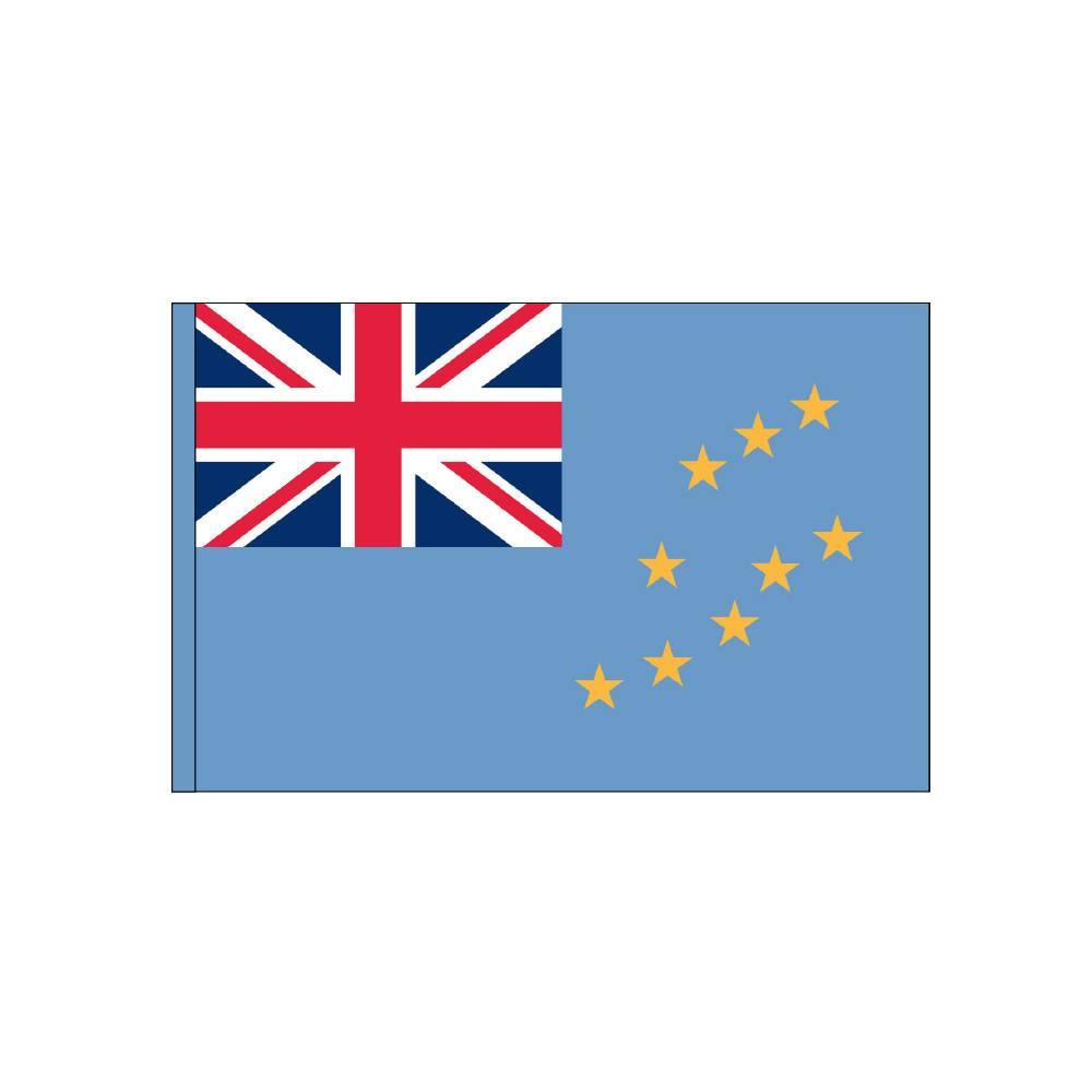 Tuvalu Flag with Polesleeve