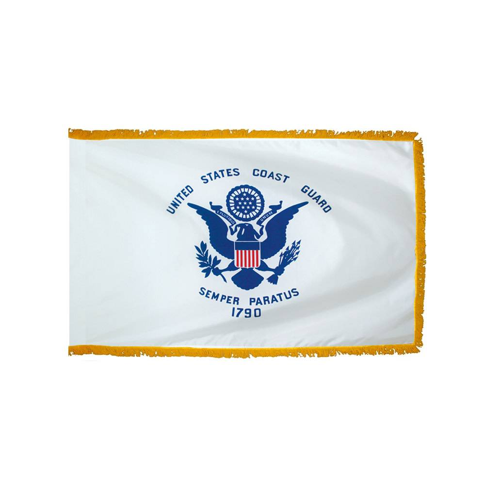 Coast Guard Flag with Polesleeve & Fringe