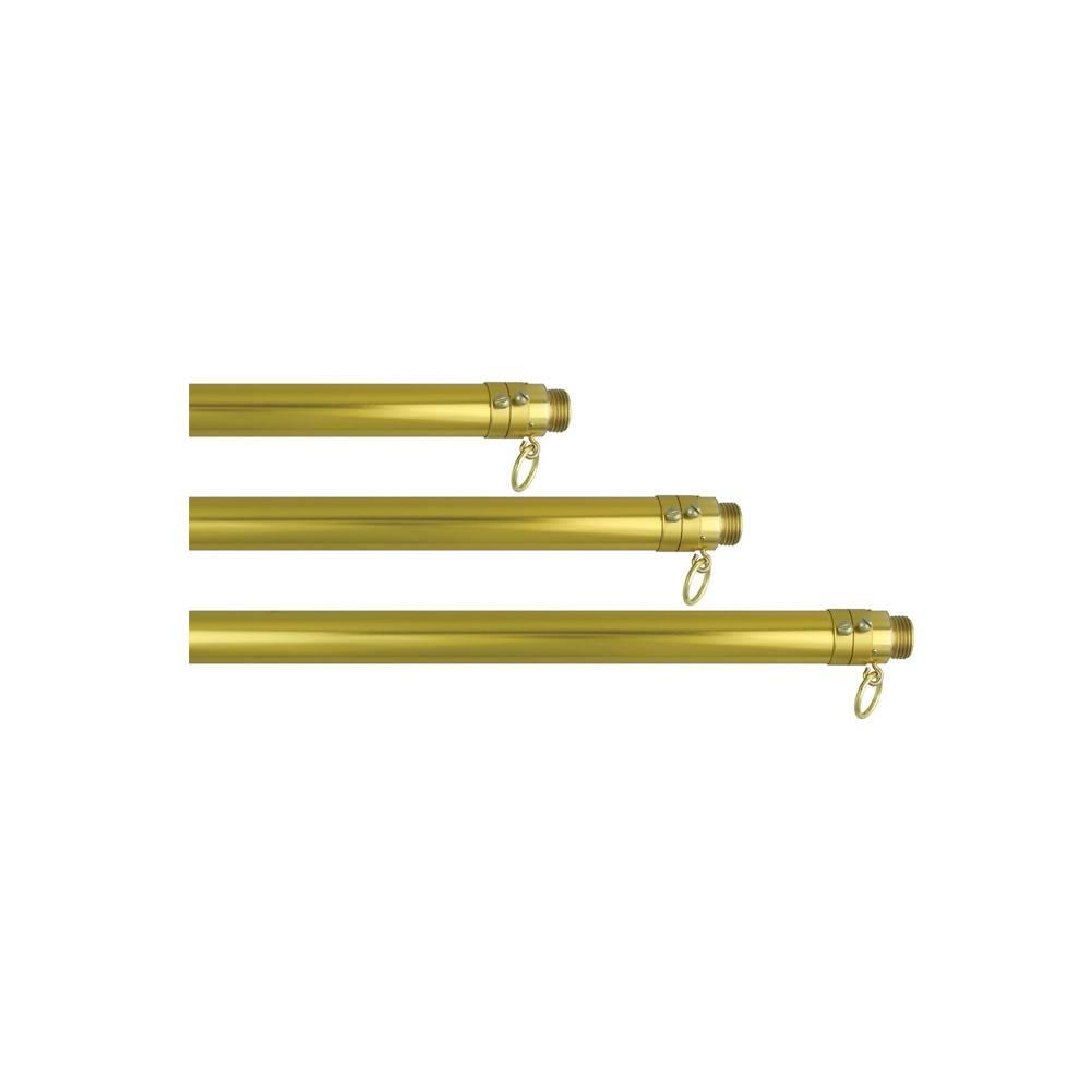 One-Piece Gold Aluminum Adjustable Flagpole