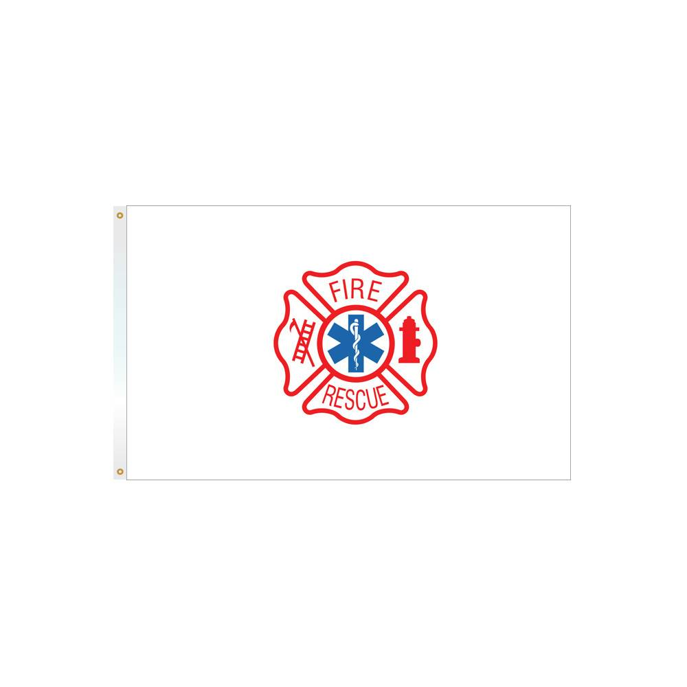 Fire Rescue Flag - All-Weather Nylon