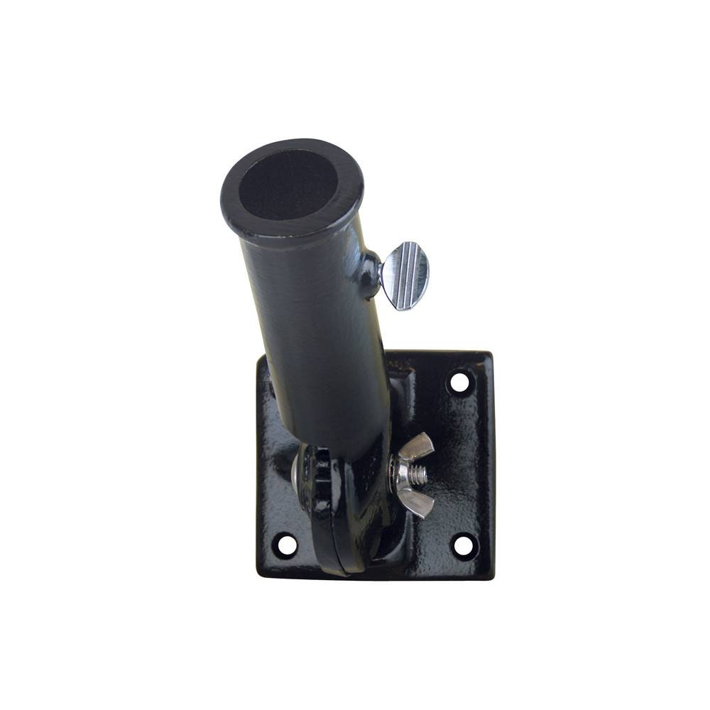 Black Adjustable Bracket for 1 in. Diameter Flagpole