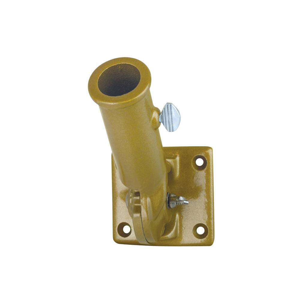 Gold Adjustable Bracket for 1 in. Diameter Flagpole