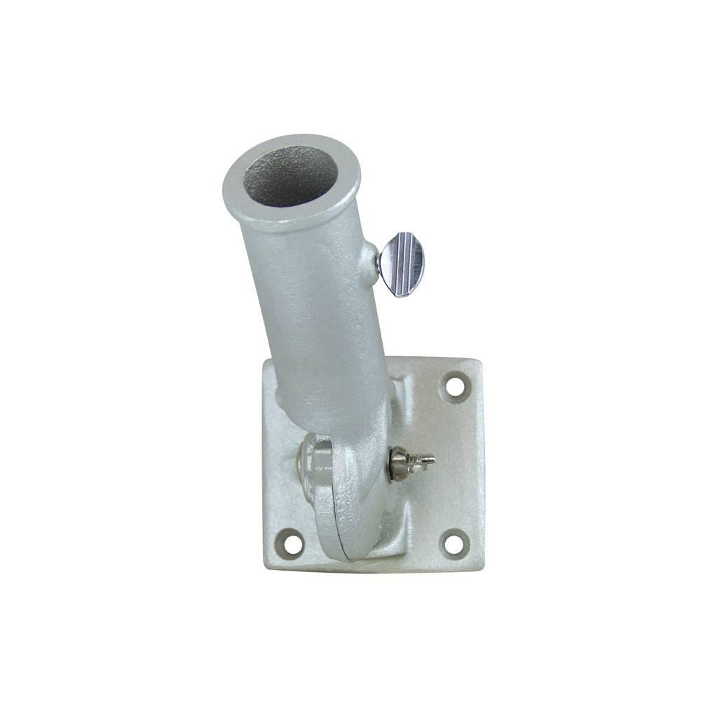 Silver Adjustable Bracket for 1 in. Diameter Flagpole