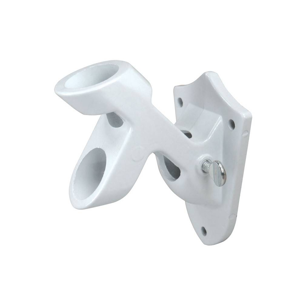 White 2-Option Bracket for 1 in. Diameter Flagpole