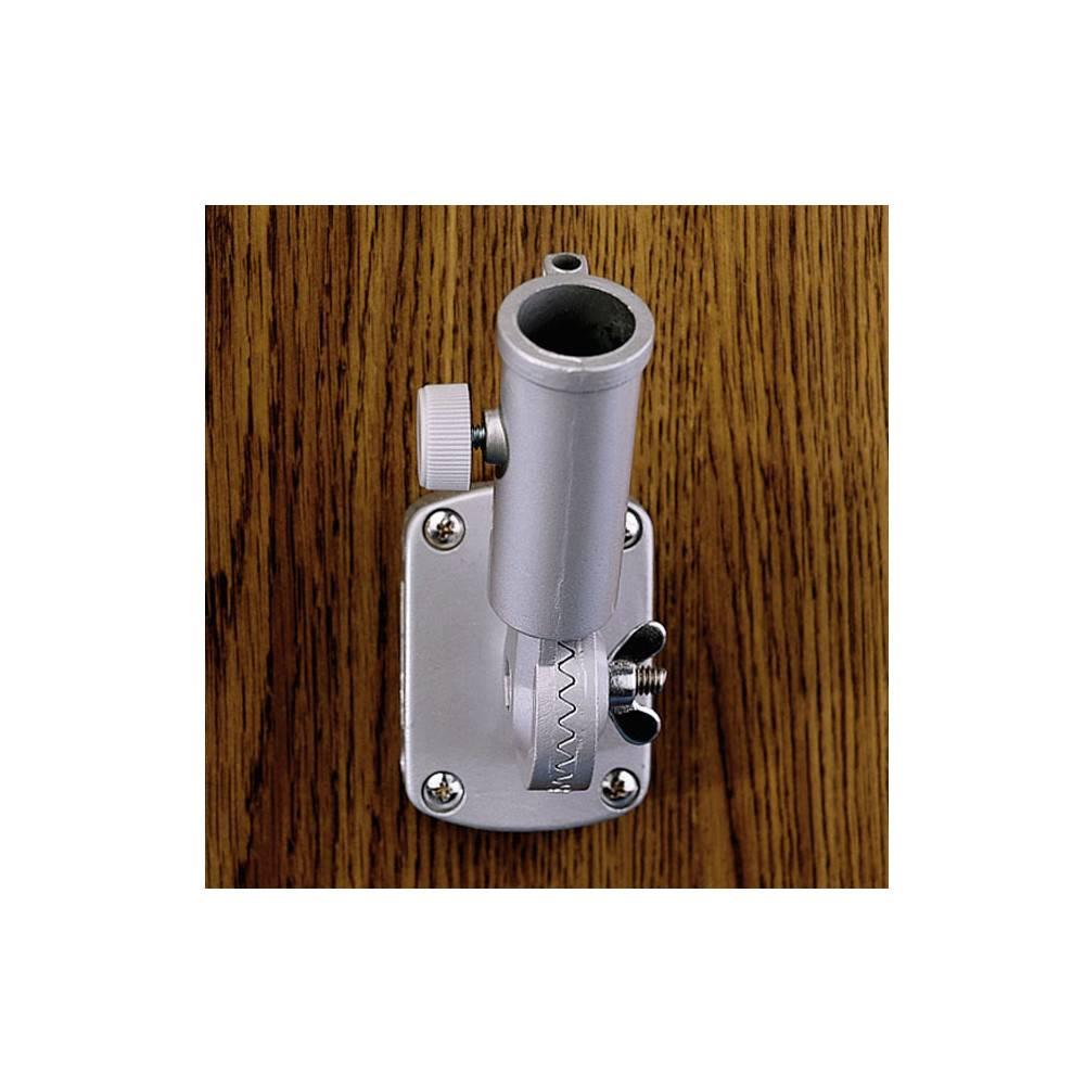 Silver Deluxe Adjustable Bracket for 1 in. Diameter Flagpole