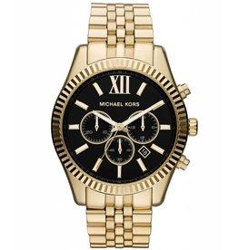 Michael Kors Chronograph Lexington Gold-Tone Stainless Steel Bracelet 45mm