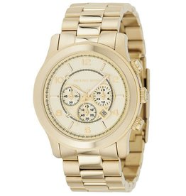 Michael Kors Chronograph Runway Gold-Tone Stainless Steel Bracelet 44mm