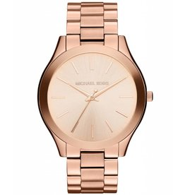 Michael Kors Slim Runway Rose Gold-Tone Stainless Steel Bracelet 42mm