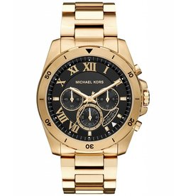 Michael Kors Chronograph Brecken Gold-Tone Stainless Steel Bracelet 44mm