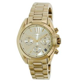 Michael Kors Chronograph Bradshaw Gold-Tone Stainless Steel Bracelet 36mm