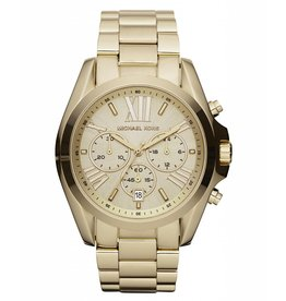 Michael Kors Chronograph Bradshaw Gold-Tone Gold-Face Stainless Steel Bracelet 43mm