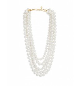 Estate Layered Pearl Necklace 18''