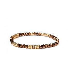 Spartina 449 Stretch Bracelet 4mm Mirror Gold