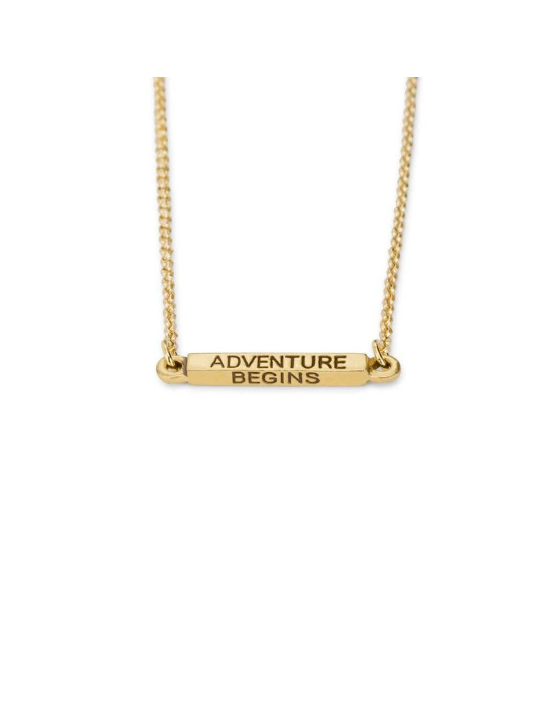 Luca & Danni Adventurine Begins Necklace, Gold